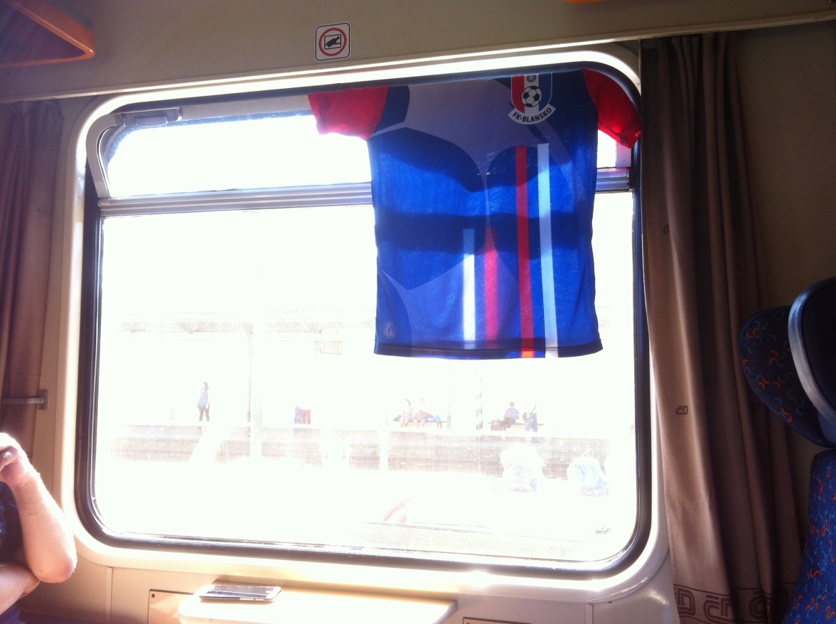 Doing laundry on the train